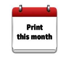Printable Calendar Current Month